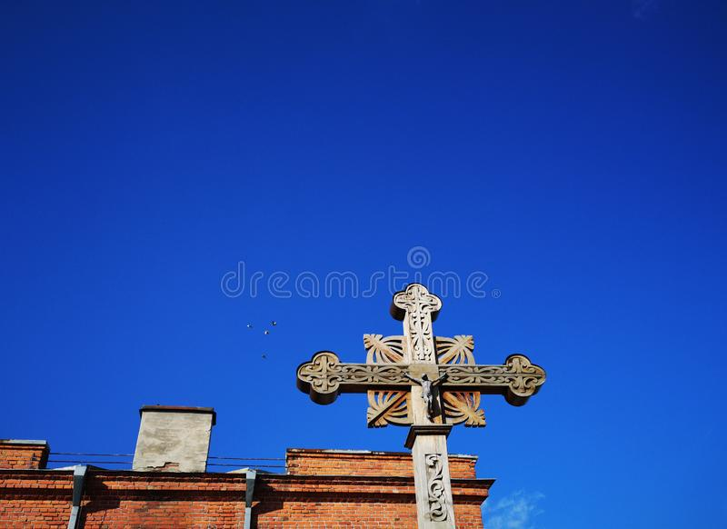 Fondo religioso di tema fotografia stock