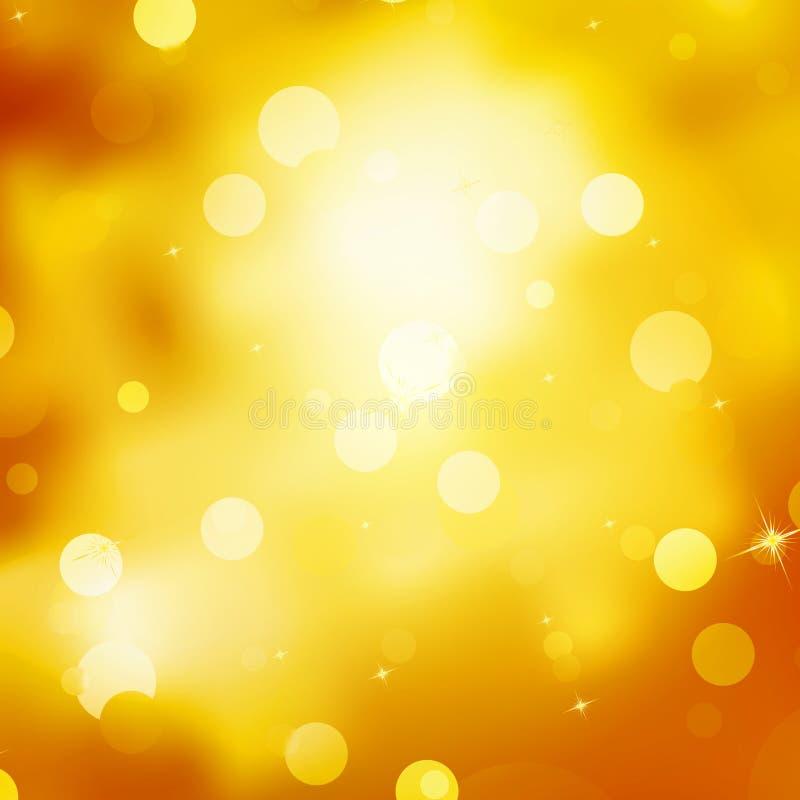 Fondo reluciente de la Navidad del oro. EPS 10 ilustración del vector