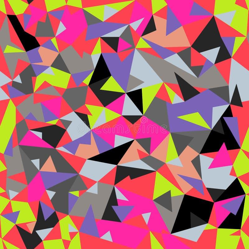 Fondo retro abstracto colorido inconsútil ilustración del vector