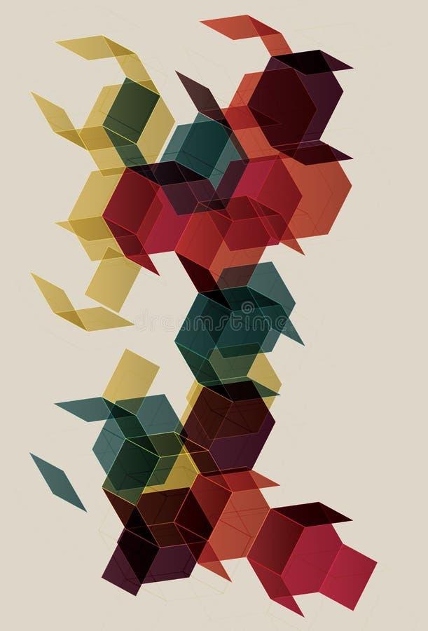 Fondo retro colorido del polígono ilustración del vector