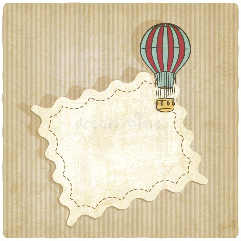 Fondo retro con el balón de aire stock de ilustración