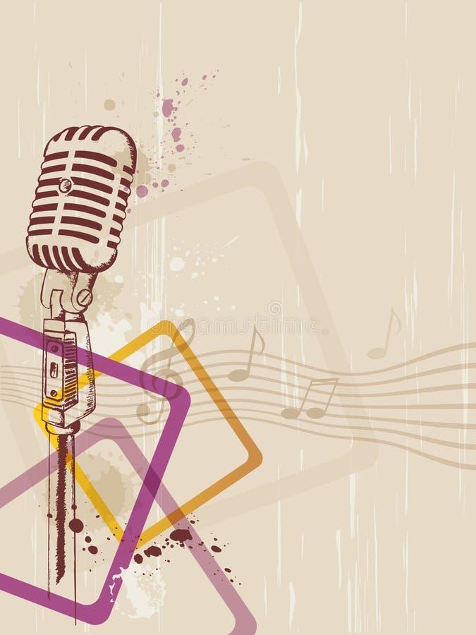 Fondo retro con el micrófono libre illustration