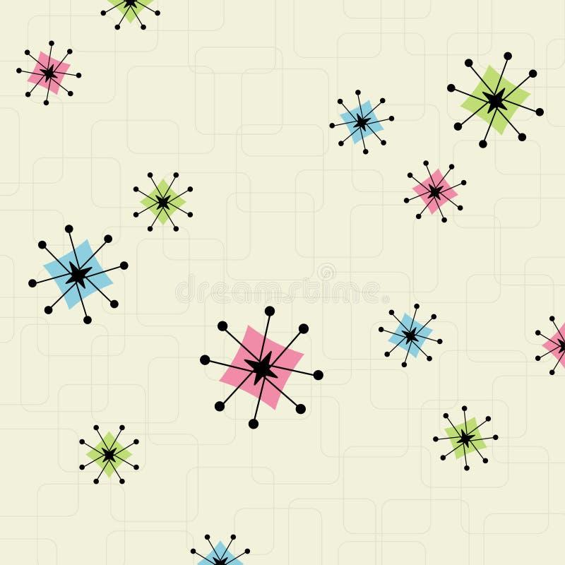 Fondo retro de la estrella ilustración del vector