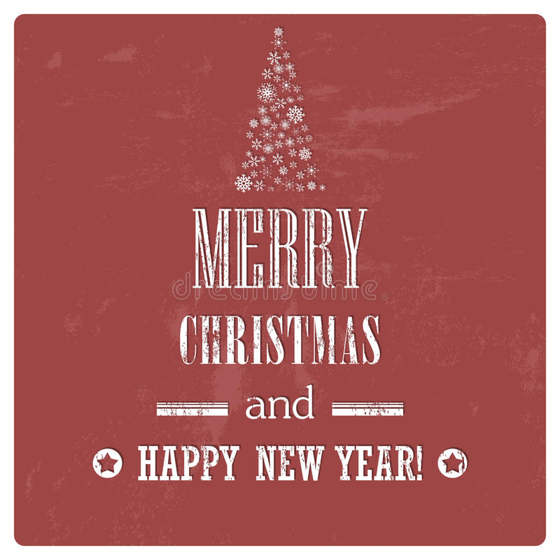 Fondo retro de la Feliz Navidad del vintage con efecto del Grunge ilustración del vector