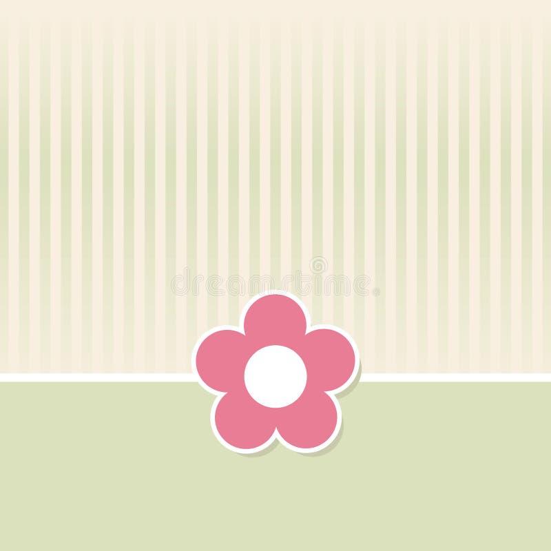 Fondo retro de la flor stock de ilustración