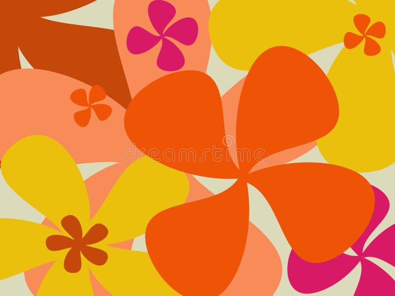 Fondo retro de la flor ilustración del vector
