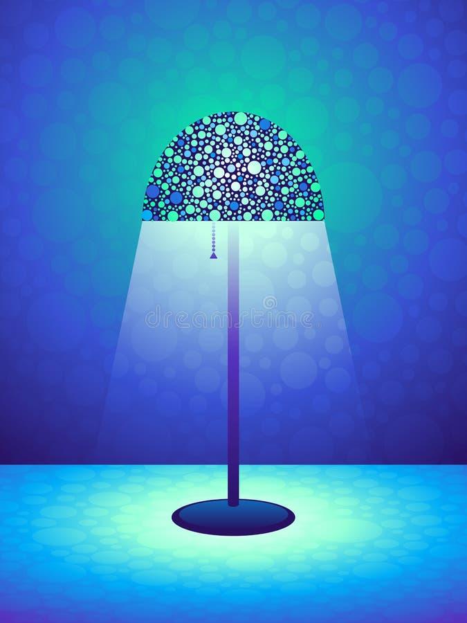 Fondo retro de la lámpara ilustración del vector