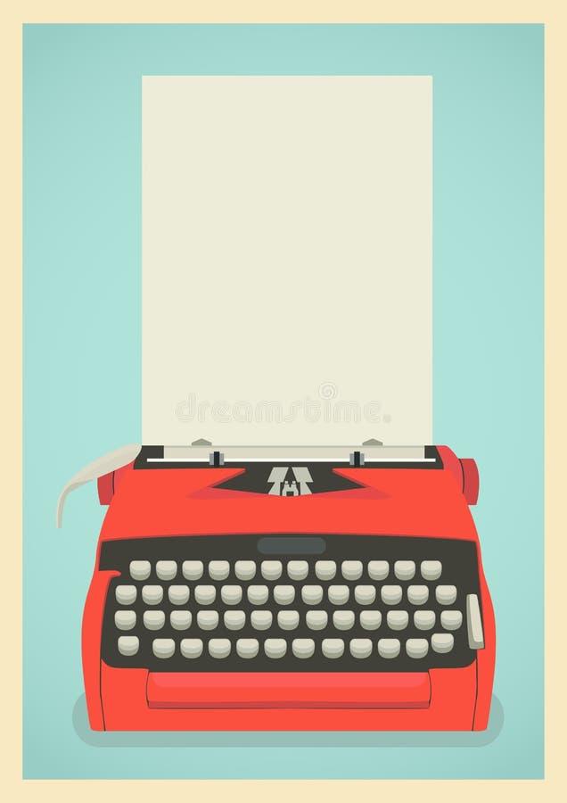 Fondo retro de la máquina de escribir stock de ilustración