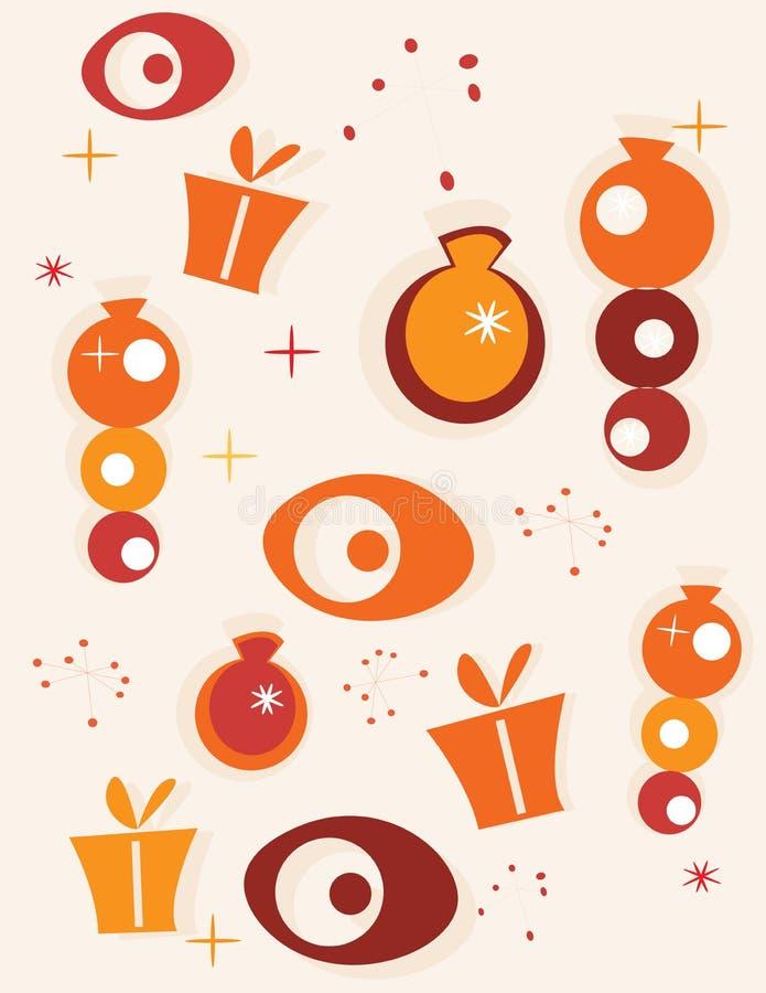 Fondo retro de la Navidad stock de ilustración