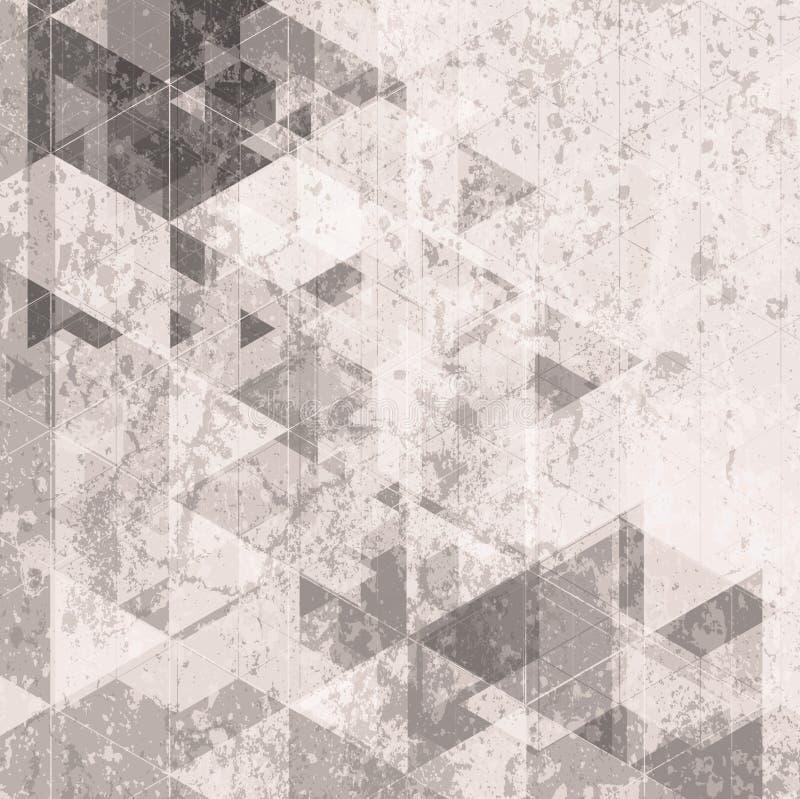Fondo retro de la tecnología del Grunge Modelo de los triángulos libre illustration