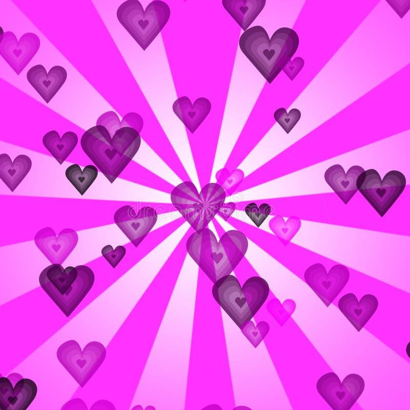 Fondo retro de los corazones ilustración del vector