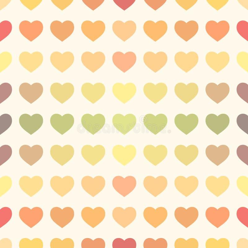 Fondo retro de los corazones del arco iris colorido libre illustration