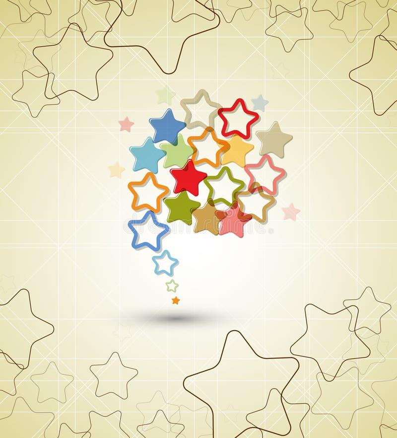 Fondo retro del asunto de la estrella abstracta ilustración del vector