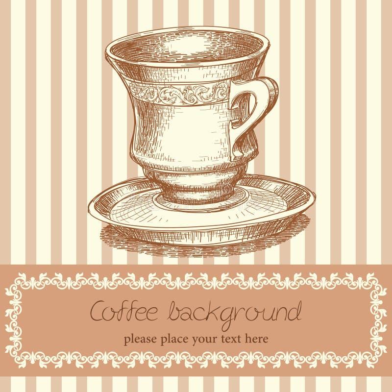 Fondo Retro Del Café Fotografía de archivo libre de regalías