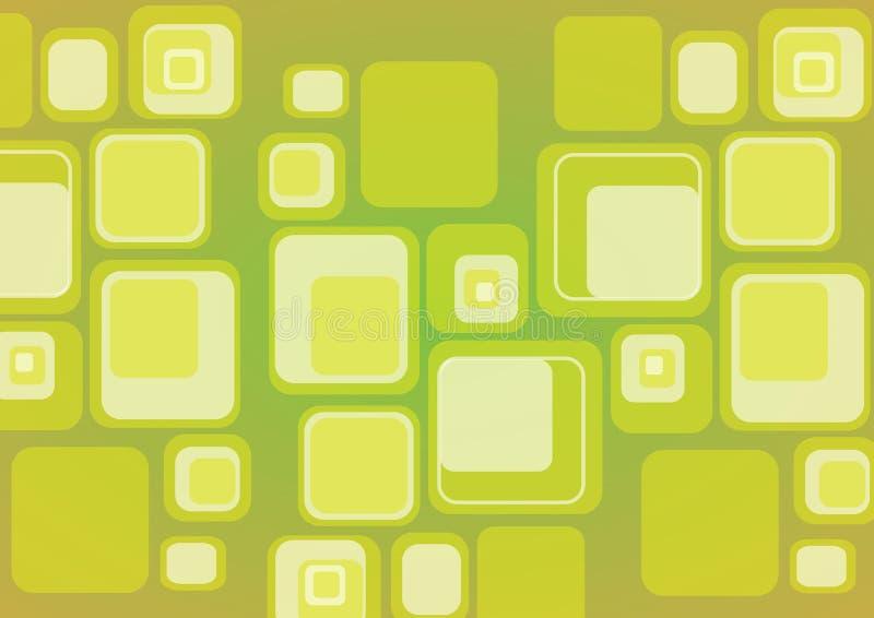 Fondo retro del cubo ilustración del vector