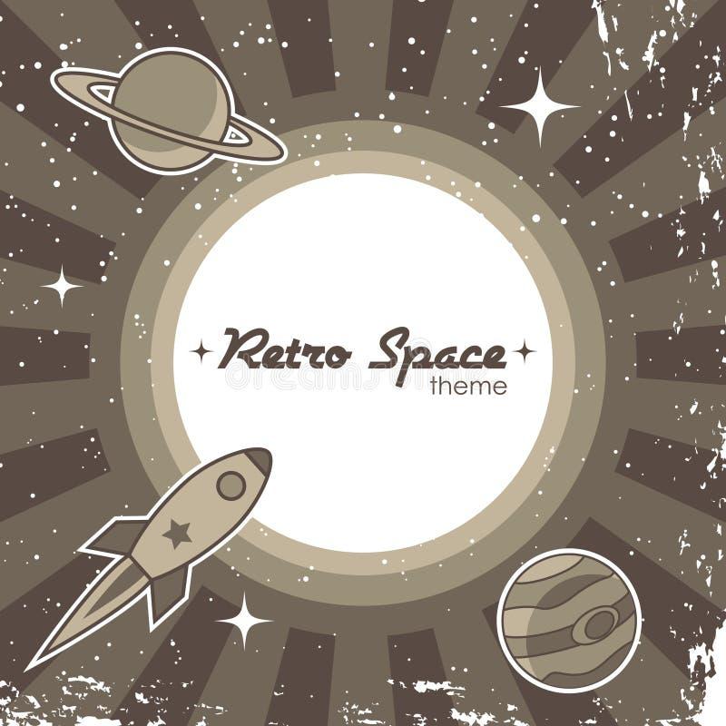 Fondo retro del espacio libre illustration
