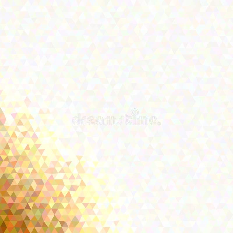 Fondo retro del polígono del triángulo de la pendiente stock de ilustración