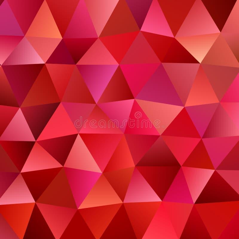 Fondo retro del polígono del triángulo del vector stock de ilustración