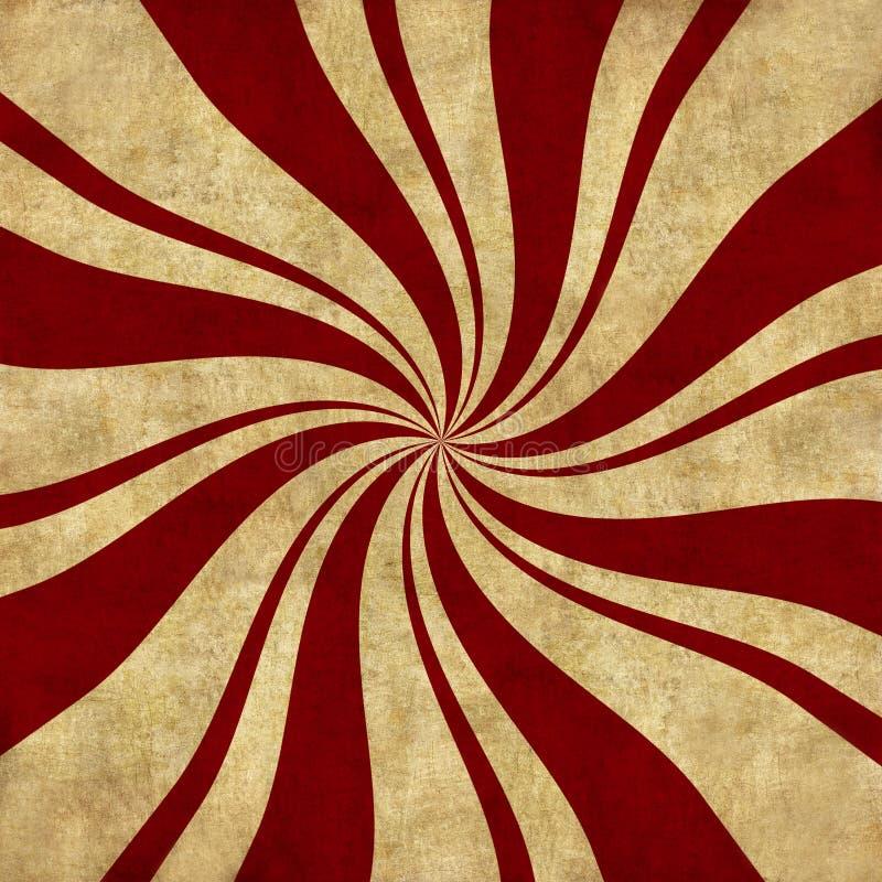Fondo retro del remolino de la hierbabuena libre illustration