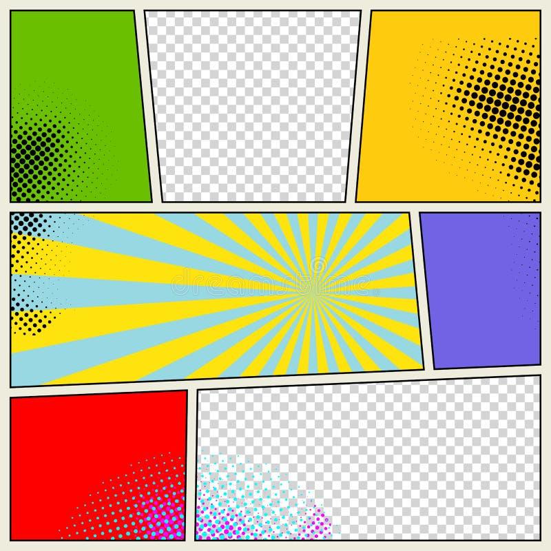 Fondo retro del vector del cómic ilustración del vector