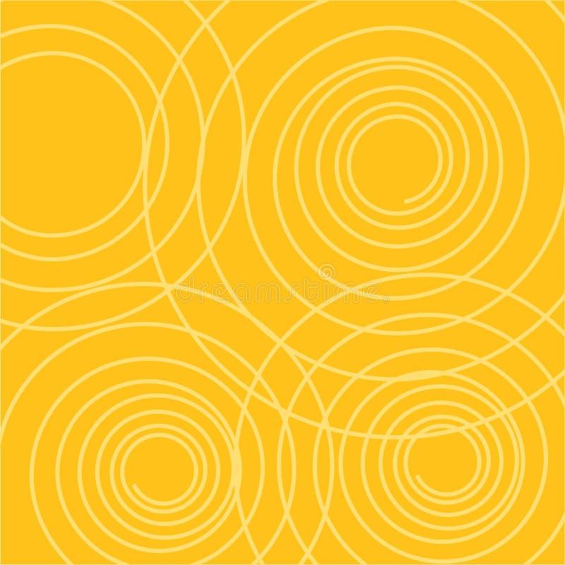 Fondo retro del verano con las curvas frescas ilustración del vector