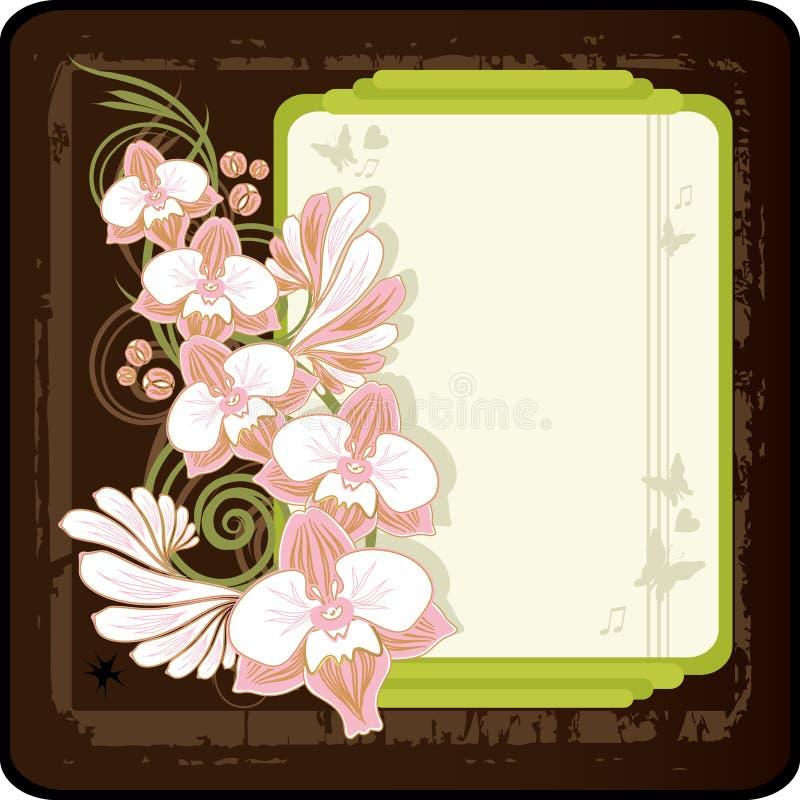 Fondo retro floral libre illustration