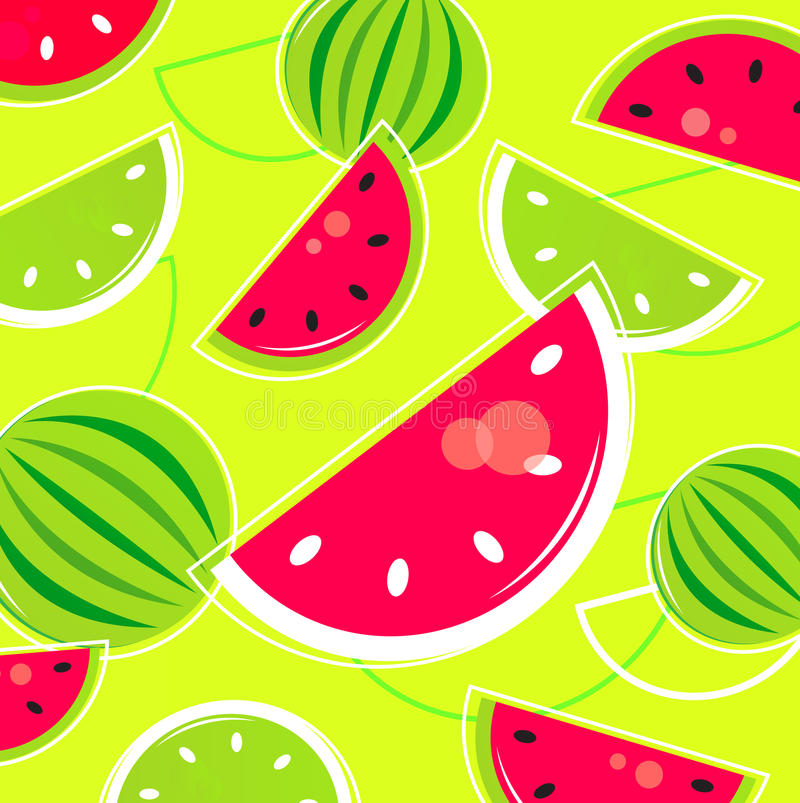 Fondo retro/modelo del melón fresco del verano ilustración del vector