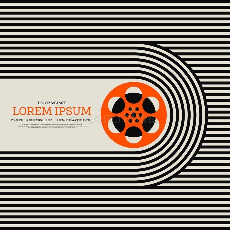 Fondo retro moderno del cartel del vintage de la película y de la película stock de ilustración