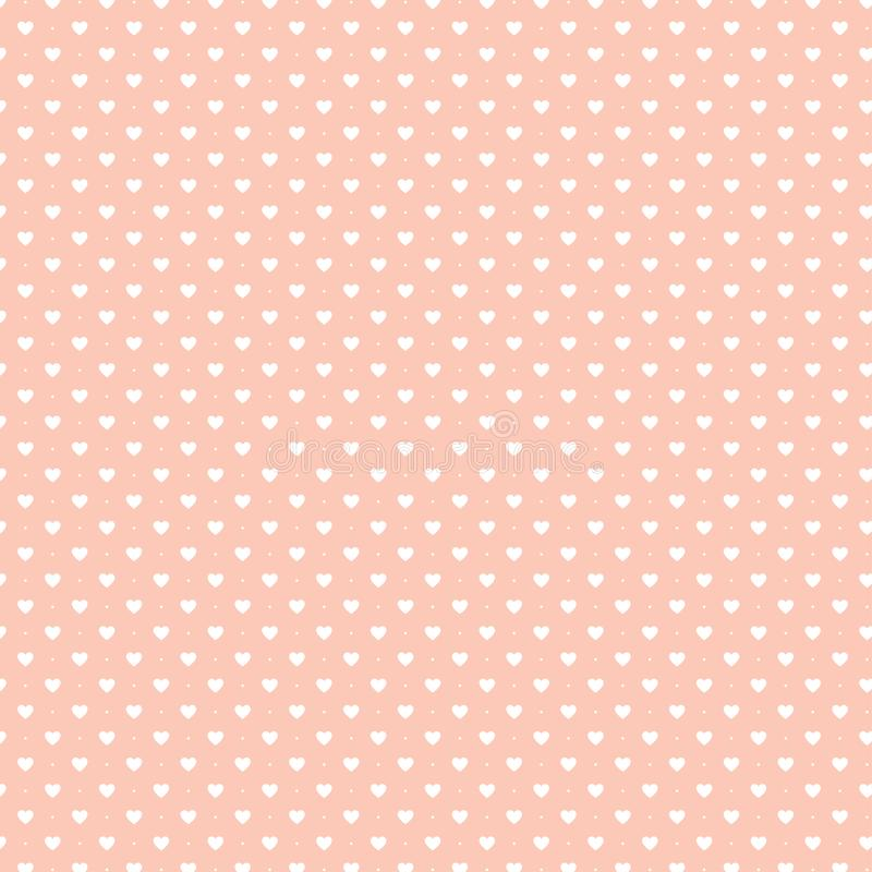 Fondo retro o papel pintado de color rosa Textura de puntos abstracta Diseño decorativo impecable stock de ilustración