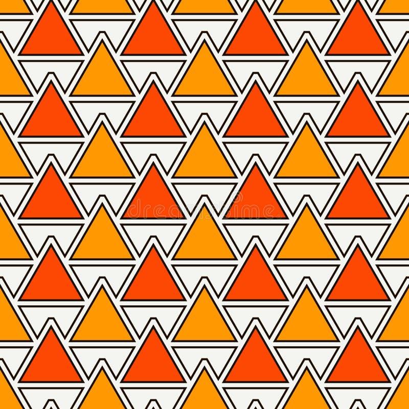 Fondo ripetuto dei triangoli Carta da parati astratta semplice con le figure geometriche Reticolo di superficie senza giunte immagine stock libera da diritti