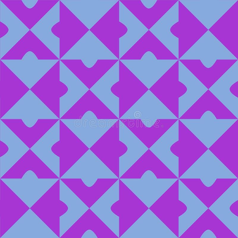 Fondo ripetuto senza cuciture di vettore del modello delle mattonelle di due colori royalty illustrazione gratis