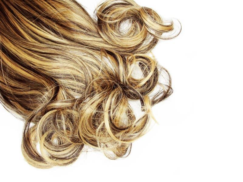 Fondo rizado de la moda del extracto de la textura del pelo foto de archivo