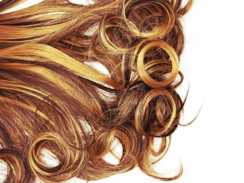 Fondo rizado de la moda del extracto de la textura del pelo imagen de archivo