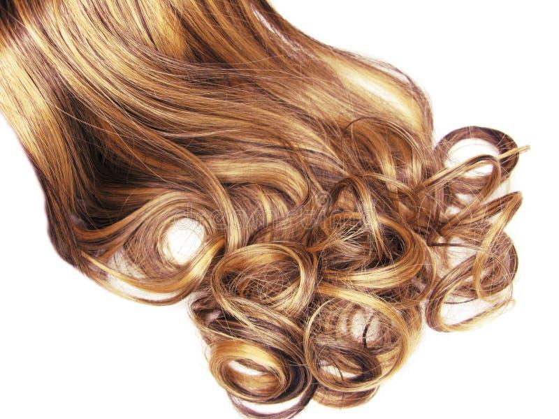 Fondo rizado de la moda del extracto de la textura del pelo imagenes de archivo