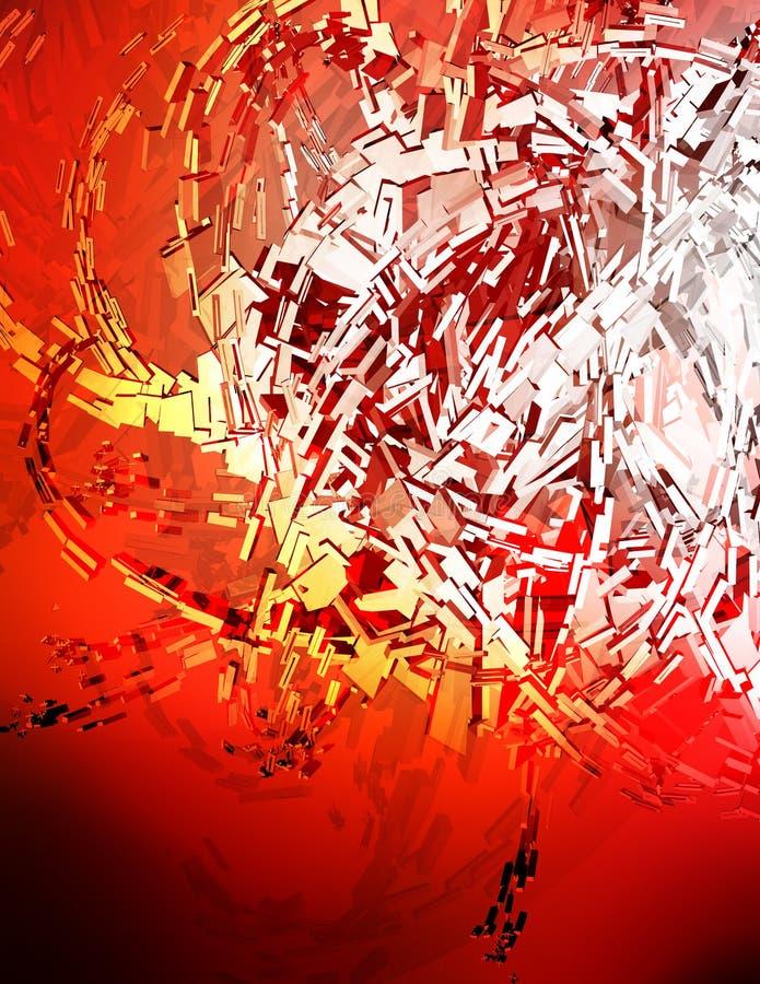 Fondo rojo 3D stock de ilustración
