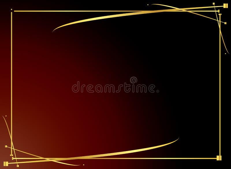 Fondo rojo 4 del oro elegante stock de ilustración