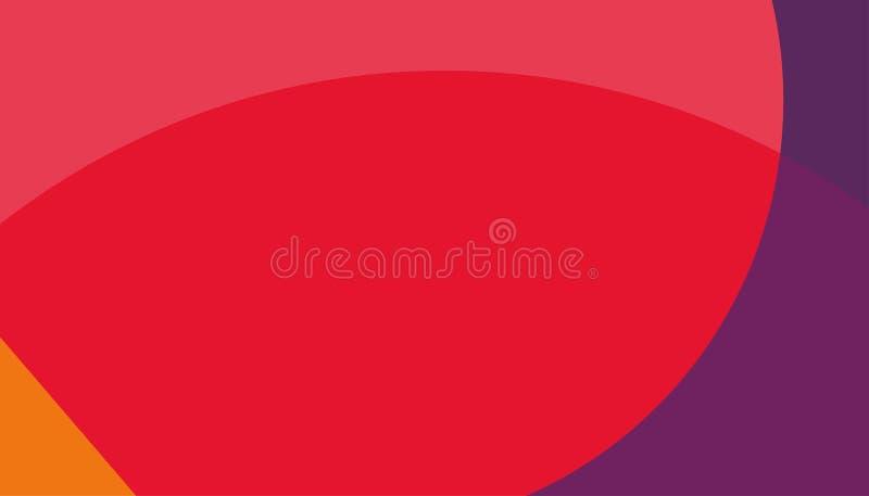 Fondo rojo abstracto fondo anaranjado rojo azul stock de ilustración