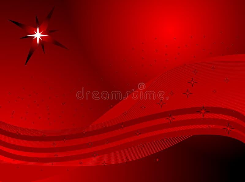 Fondo rojo abstracto con las estrellas fotografía de archivo