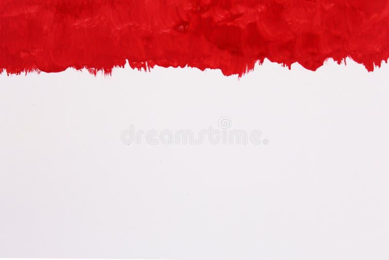Fondo rojo abstracto de la acuarela, pintura de la mano en el papel foto imagenes de archivo