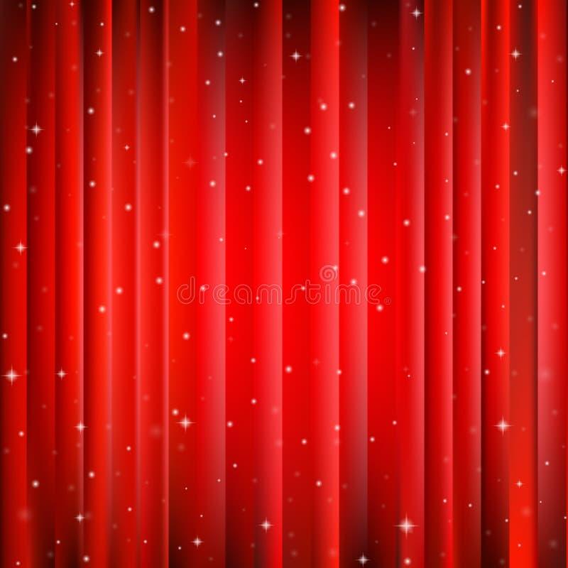 Fondo rojo abstracto de la Navidad ilustración del vector