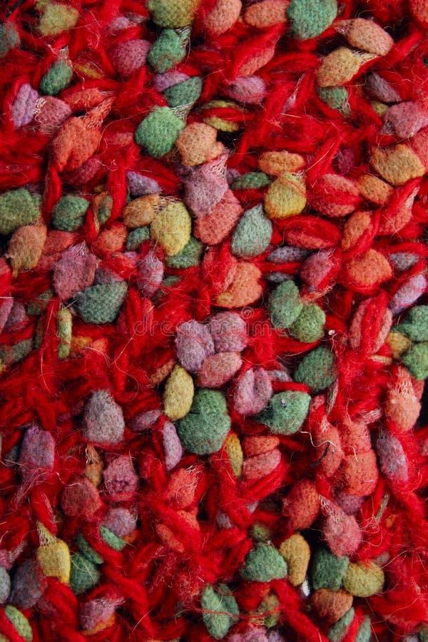Fondo rojo abstracto de las texturas Tiro vertical de las texturas rojas de la materia textil foto de archivo libre de regalías