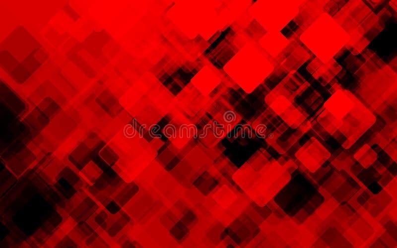 Fondo rojo abstracto del grunge Ilustración del vector ilustración del vector