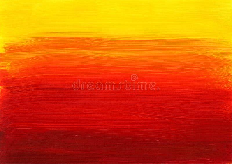 Fondo Rojo Amarillo-naranja De La Pintura Stock De