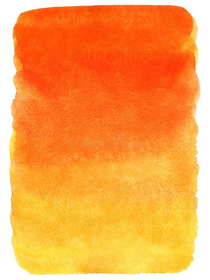 Fondo rojo, anaranjado y amarillo de la pendiente de la acuarela ilustración del vector