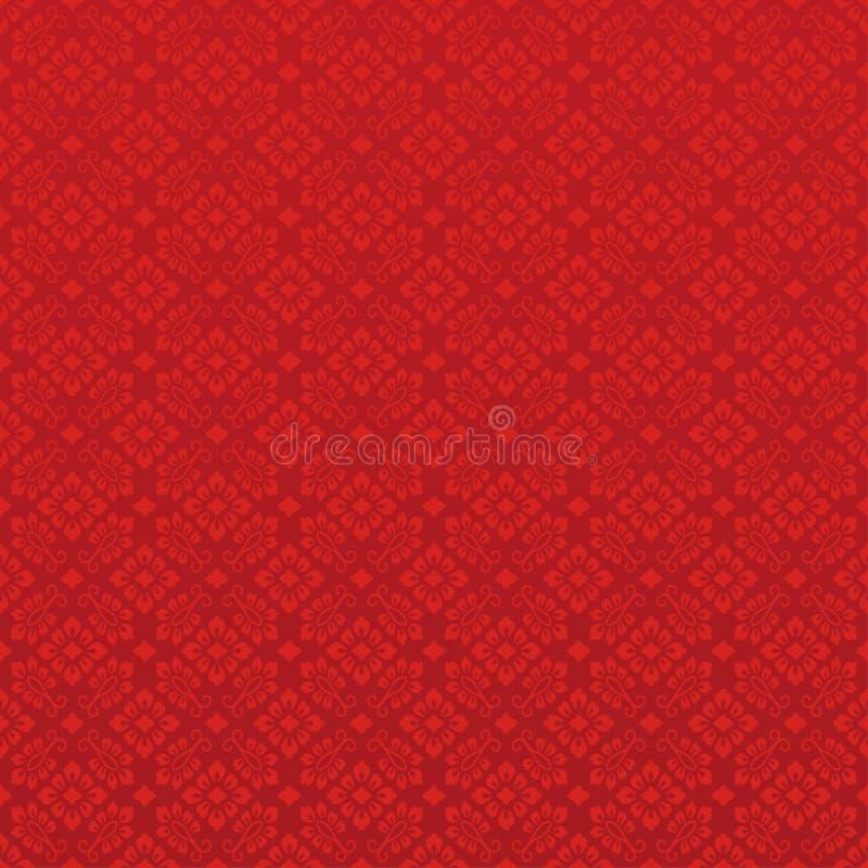 Fondo rojo chino Illlustration del vector stock de ilustración