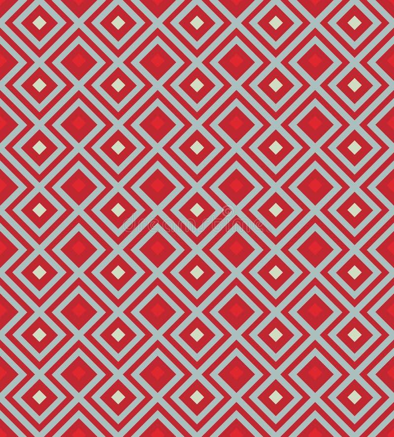 Fondo rojo con el Rhombus libre illustration