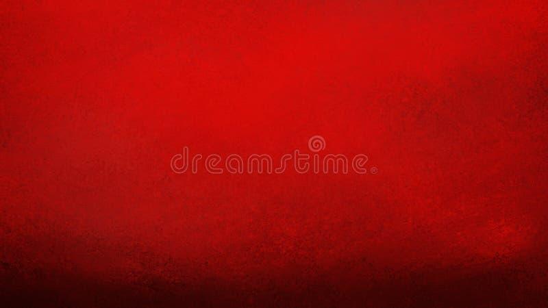 Fondo rojo con textura negra del grunge en la frontera en viejo diseño del vintage stock de ilustración