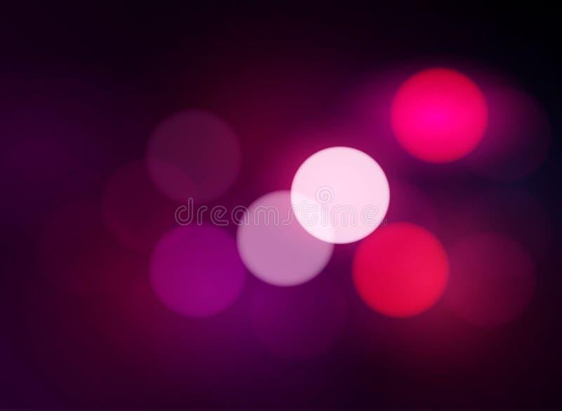 Fondo rojo de Bokeh - el fondo abstracto borroso con el círculo se enciende, el ejemplo EPS 10 del vector St Día del ` s de la ta stock de ilustración