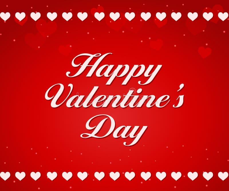 Fondo rojo de día de tarjetas del día de San Valentín stock de ilustración
