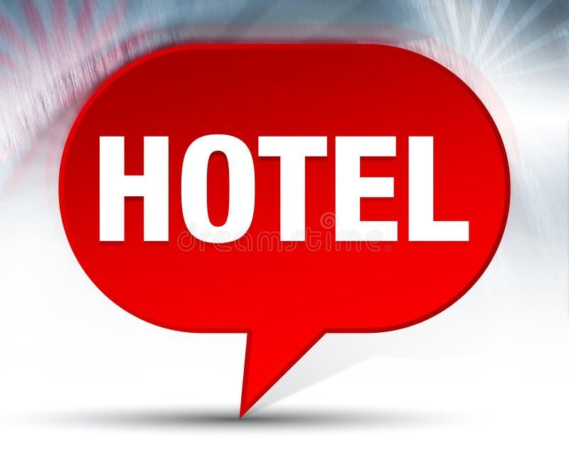 Fondo rojo de la burbuja del hotel ilustración del vector